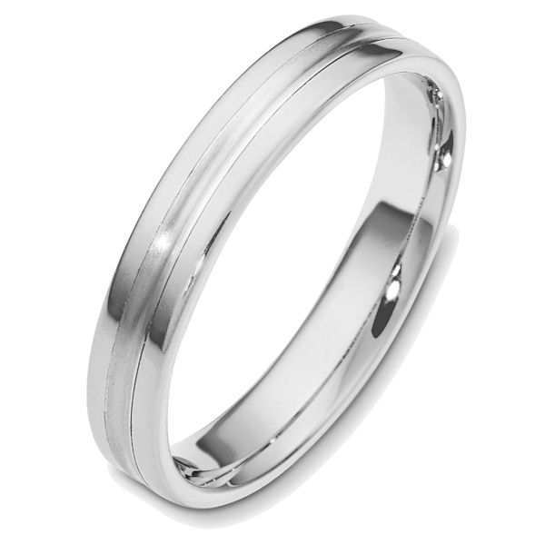 Item # 48543W - 14kt White gold classic, comfort fit, 4.0mm wide wedding band. Different finishes may be selected or specified.