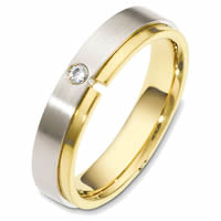 Item # 48549PE - Platinum-18K Diamond Wedding Band