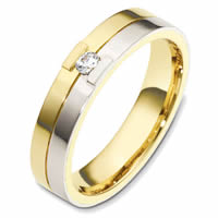 Item # 48620E - 18K Gold Diamond Wedding Band
