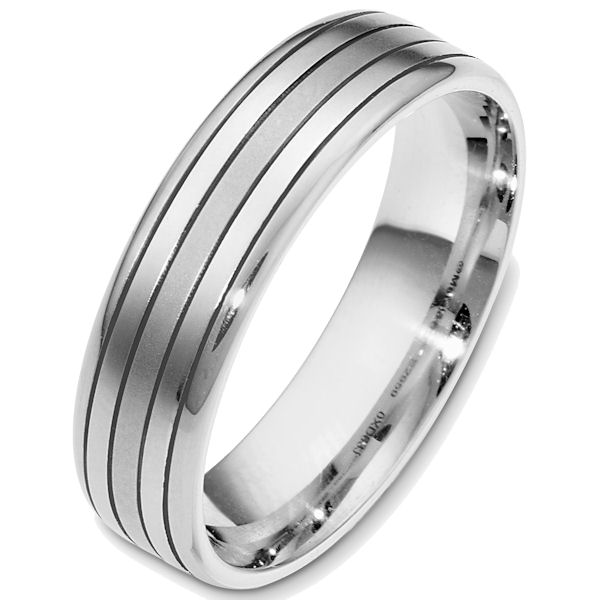 Item # 48637PP - Platinum classic, comfort fit, 6.0mm wide wedding band. The ring has a matte finish. Different finishes may be selected.