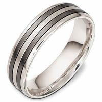 Item # 48637TP - Titanium & Platinum Classic Wedding Ring