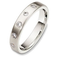 Item # 48711W - 14K White Gold Diamond Wedding Band