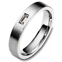Item # 48746TI - Titanium  Baguette Wedding Band