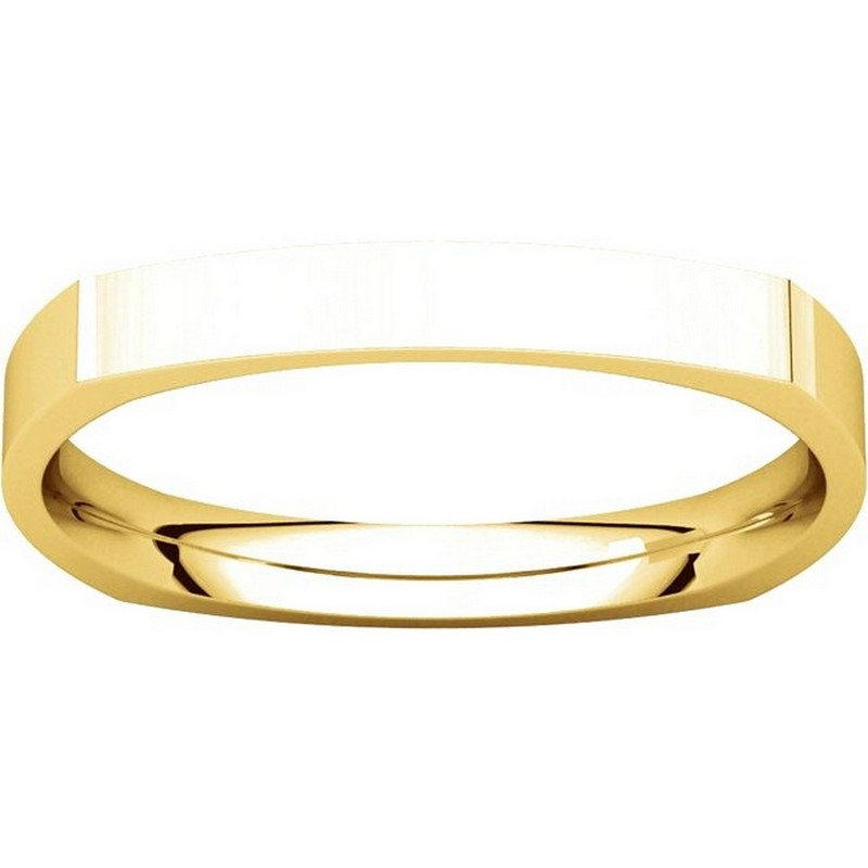 Item # 48839 View 3 - Square Classic Wedding Ring