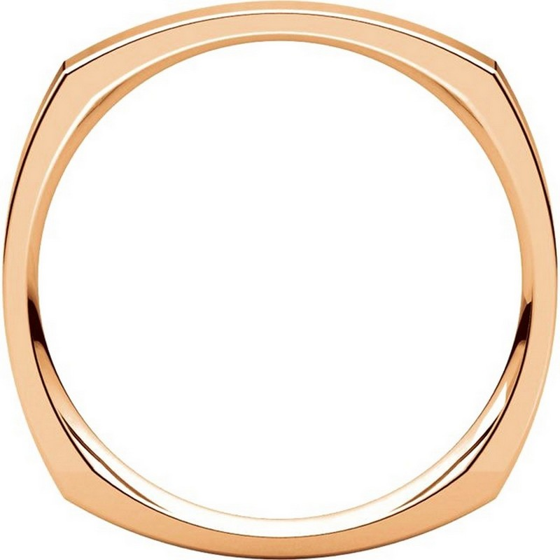 Item # 48839R View 2 - 14K Rose Gold Square Classic Wedding Ring