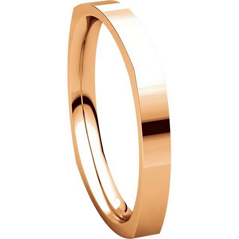 Item # 48839R View 5 - 14K Rose Gold Square Classic Wedding Ring