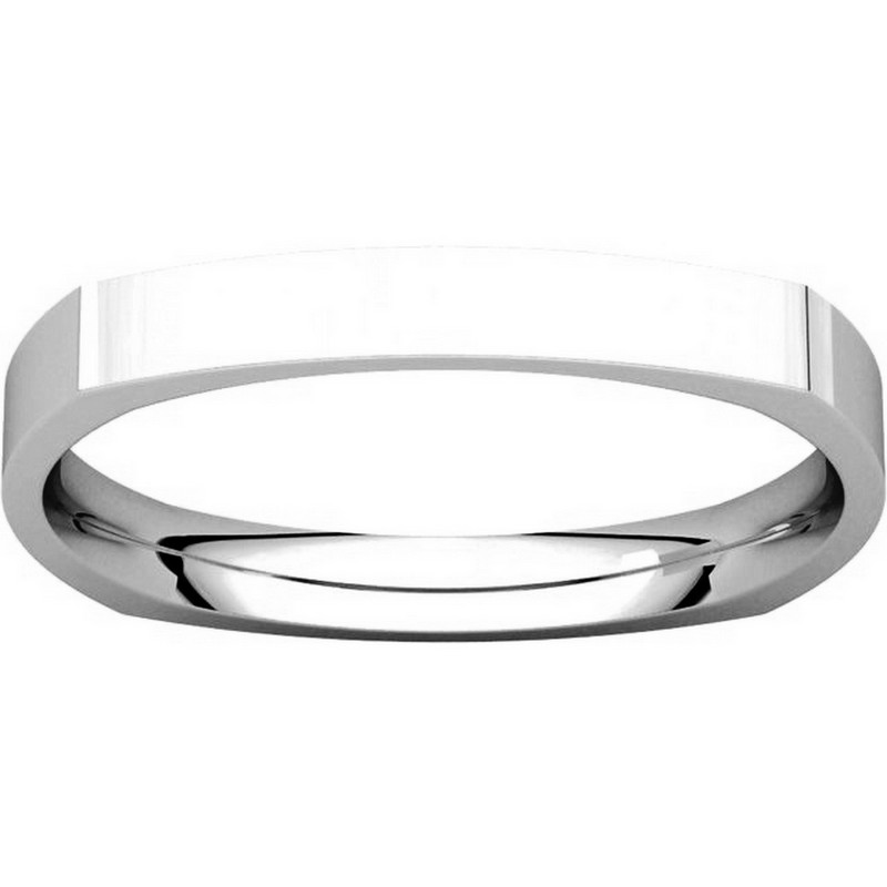 Item # 48839W View 3 - Square Classic Wedding Ring