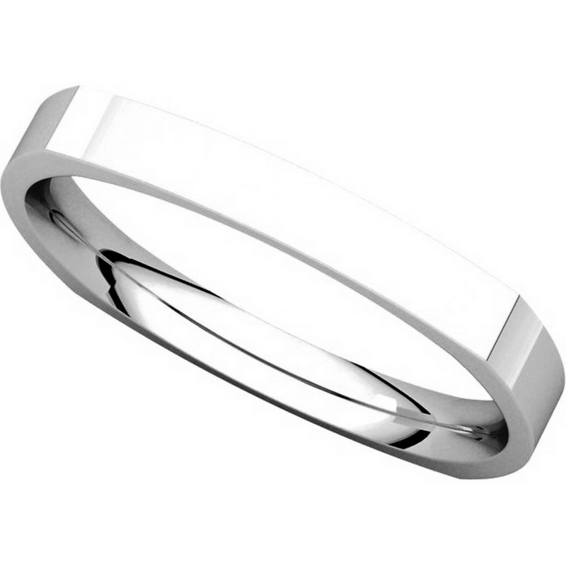 Item # 48839W View 4 - Square Classic Wedding Ring