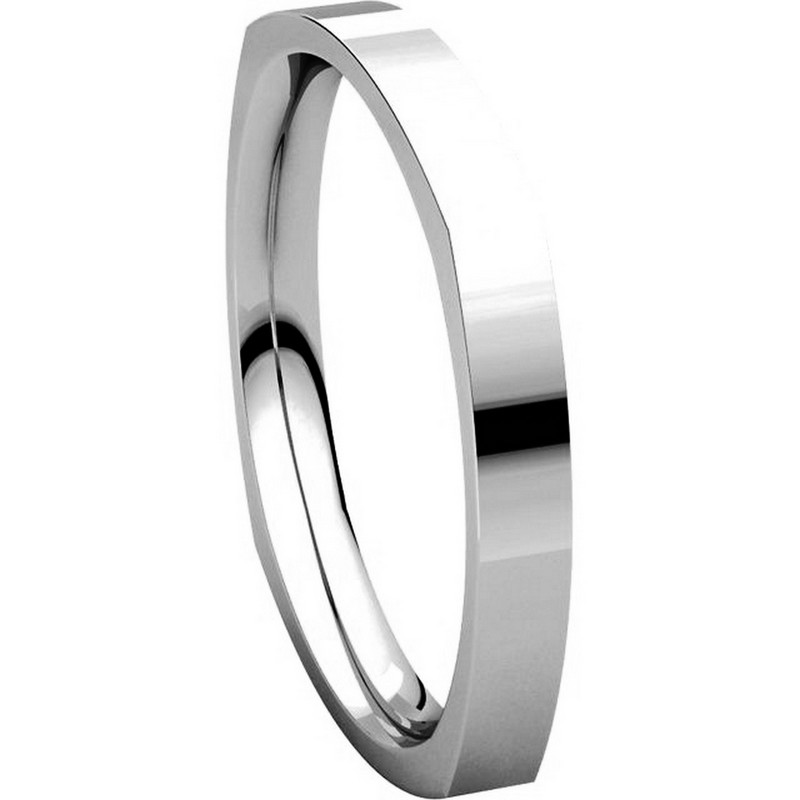 Item # 48839W View 5 - Square Classic Wedding Ring