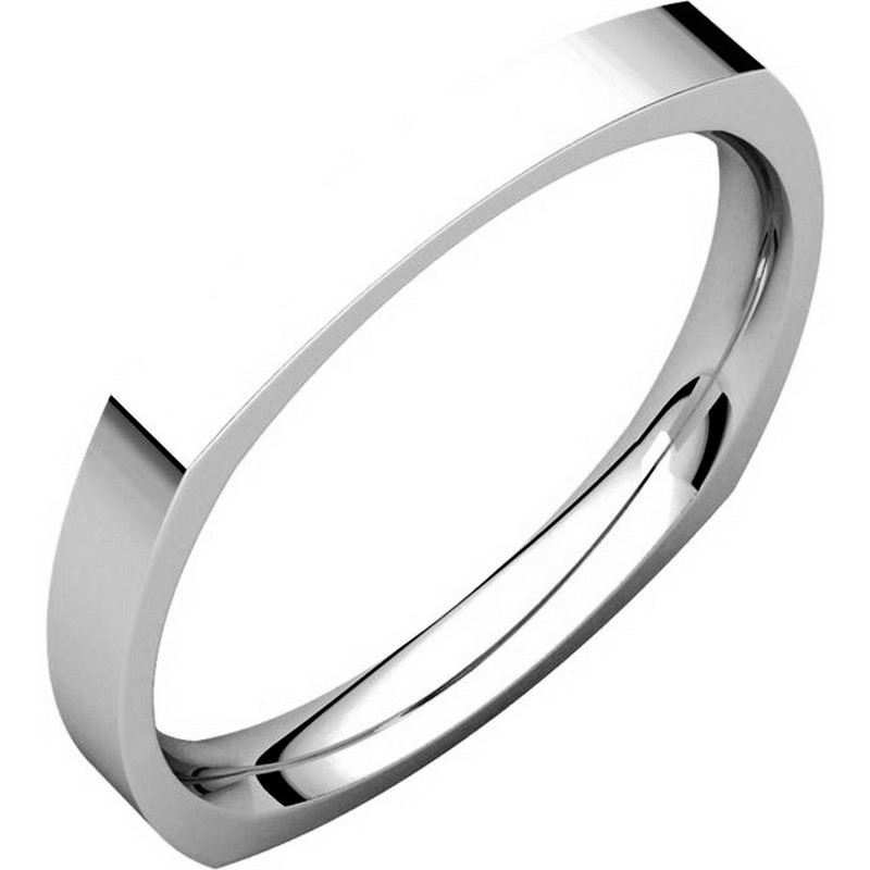 Item # 48839W - 14kt White gold square, classic, comfort fit, 2.5mm wide wedding band. The ring is square shaped and the corners are slightly thicker than the center portion of the band. The ring is matte finish. Different finishes may be selected.