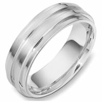 Item # 49001NW - White Gold Contemporary Wedding Ring