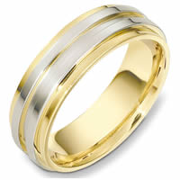 Item # 49001NA - Two-Tone Contemporary Wedding Ring