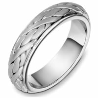 Item # 49054PD - Palladium Handcrafted Wedding Ring