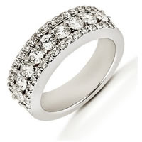 Item # 51864PD - Palladium Diamond Anniversary Band