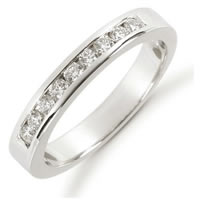 Item # 521219WE - 18K White Gold Diamond Anniversary Band