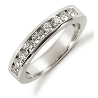Item # 521249PD - Palladium Diamond Anniversary Band