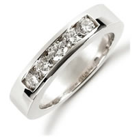 Item # 521255PD - Palladium Diamond Anniversary Band