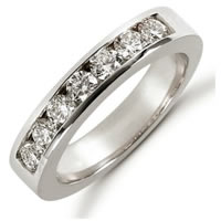 Item # 521257PD - Palladium Diamond Anniversary Band