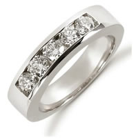 Item # 521265W - 14K White Diamond Anniversary Band