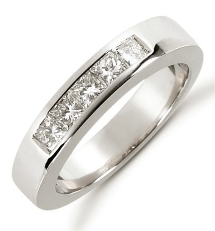 Item # 521405W - 14K White Gold Diamond Anniversary Band View-1