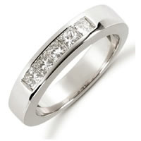 Item # 521405WE - 18K White Gold Diamond Anniversary Band