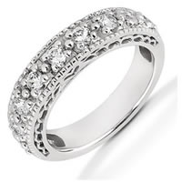 Item # 521453PD - Palladium Diamond Anniversary Band