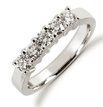 Item # 52449PP - Platinum Diamond Anniversary Band View-1