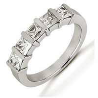 Item # 52668PD - Palladium Princess Diamond Anniversary Band
