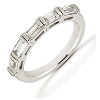 Palladium Baguette Diamond Anniversary Band