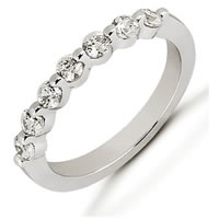 Item # 52928PD - Palladium Diamond Anniversary Band