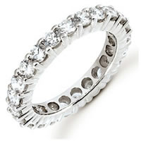 Palladium Diamond Eternity Band