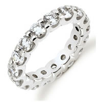 18Kt White Gold Diamond Eternity Band (Over 3.20ct. tw.)