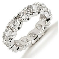 Item # 53306W - Diamond Eternity Band 14Kt White Gold