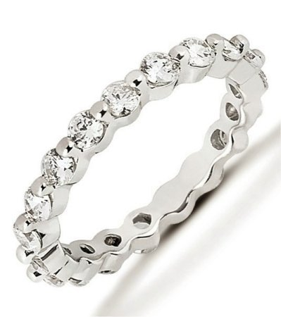 Item # 534205PD - Palladium Diamond Eternity Band  View-1