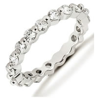 Item # 534205W - 14Kt White Gold Diamond Eternity Band