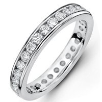 14Kt White Gold Diamond Eternity Band