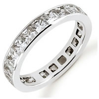 Item # 534223W - 14Kt White Gold Diamond Eternity Band