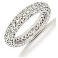 Item # 53458WE - 18Kt White Gold Diamond Eternity Band