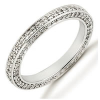 Item # 53464WE - 18Kt White Gold Diamond Eternity Band
