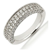 Item # 5410489PD - Palladium Diamond Anniversary Band