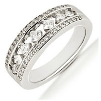Item # 5411499PD - Palladium Diamond Anniversary Band