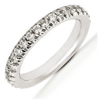 Item # 5412009PD - Palladium Diamond Anniversary Band