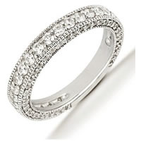 Item # 5412569WE - 18K White Gold Diamond Anniversary Band