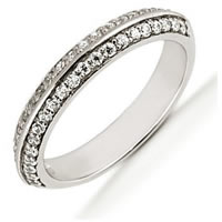 Item # 5412929PD - Palladium Diamond Anniversary Band
