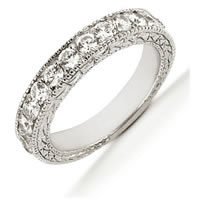 Item # 543959PD - Palladium Diamond Anniversary Band