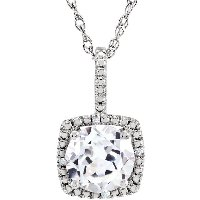 Item # 655860AG - 7mm White Sapphire Necklace