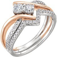 Item # 657888AB - Engagement Ring and Matching Band