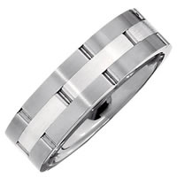 Item # 6589TI - Titanium-Silver Wedding Band