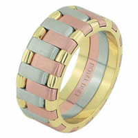 Item # 68659102E - 18 Kt Tri-Color Wedding Ring