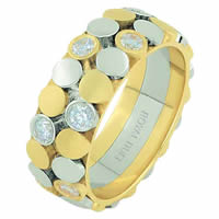 Item # 68668101D - 14 K Two-Tone Diamond Ring